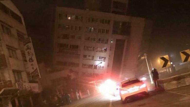Ισχυρός σεισμός στην Ταϊβάν - Κατέρρευσε ξενοδοχείο