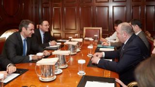 Συνάντηση του Μητσοτάκη με τον πρόεδρο της Γεωργίας