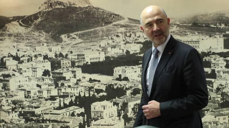 Μοσκοβισί: Η Ελλάδα έχει εισέλθει σε τροχιά ανάπτυξης