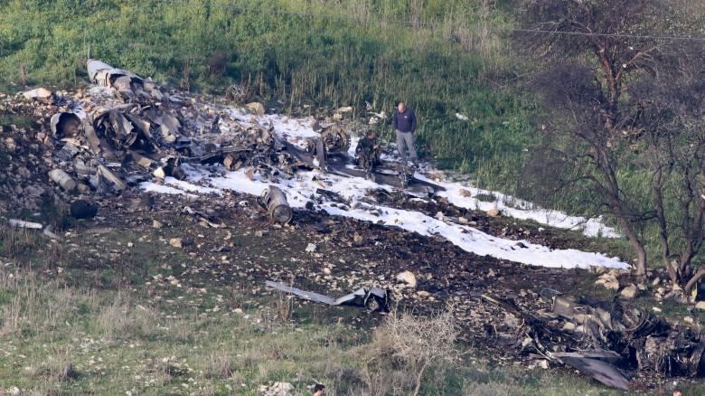 Ένταση μεταξύ Συρίας και Ισραήλ: Κατάρριψη F16 και drone, σειρήνες συναγερμού στα Υψίπεδα του Γκολάν