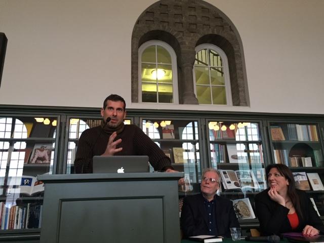 Diamantis Karanastasis speech at the Reykjavic library