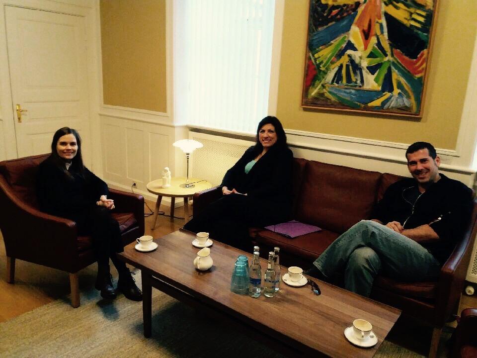 Prime Minister of Iceland with Zoe Konstantopoulou Diamantis Karanastasis