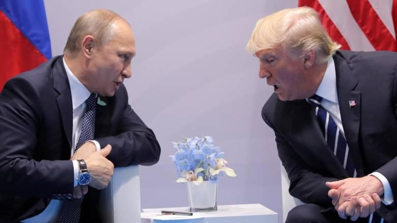 Τηλεφωνική επικοινωνία Πούτιν-Τραμπ για το Μεσανατολικό και τη Βόρεια Κορέα