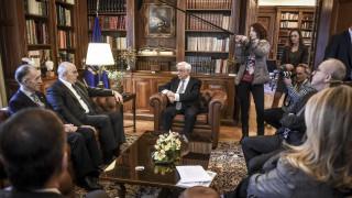 Συνάντηση Παυλόπουλου με την Ελληνική Ένωση Τραπεζών