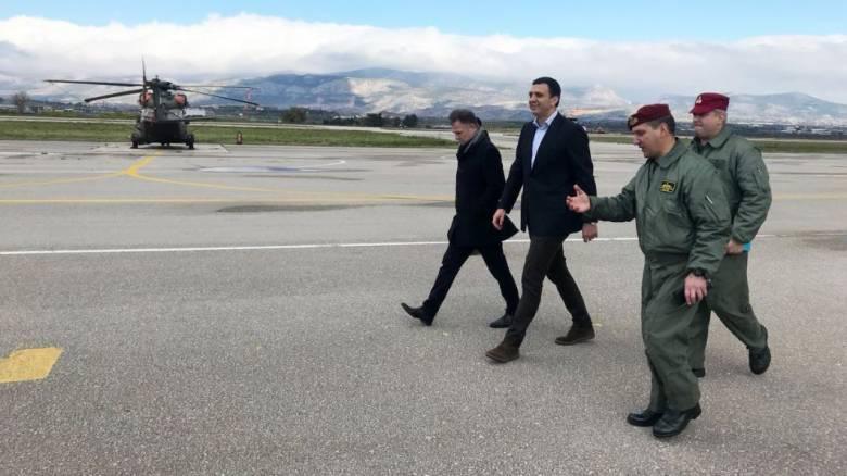 Επίσκεψη Κικίλια σε μονάδες της Αεροπορίας Στρατού
