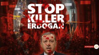 Την απόσυρση γραφήματος Έλληνα γραφίστα φέρεται να ζητά ο Ερντογάν