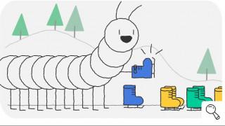 Η σαρανταποδαρούσα που κάνει πατινάζ το Doodle της Google για τους Χειμερινούς Ολυμπιακούς