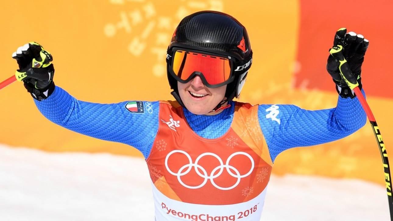 Χειμερινοί Ολυμπιακοί Αγώνες: «Χρυσή» στην κατάβαση η Γκότζια (pics)