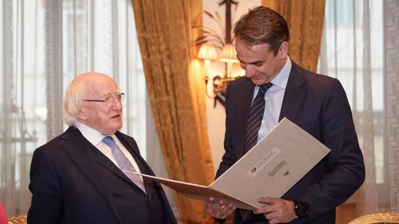 Συνάντηση Μητσοτάκη με τον Ιρλανδό Πρόεδρο