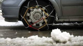 Χιονοπτώσεις στην Κεντρική Μακεδονία - Πού χρειάζονται αντιολισθητικές αλυσίδες