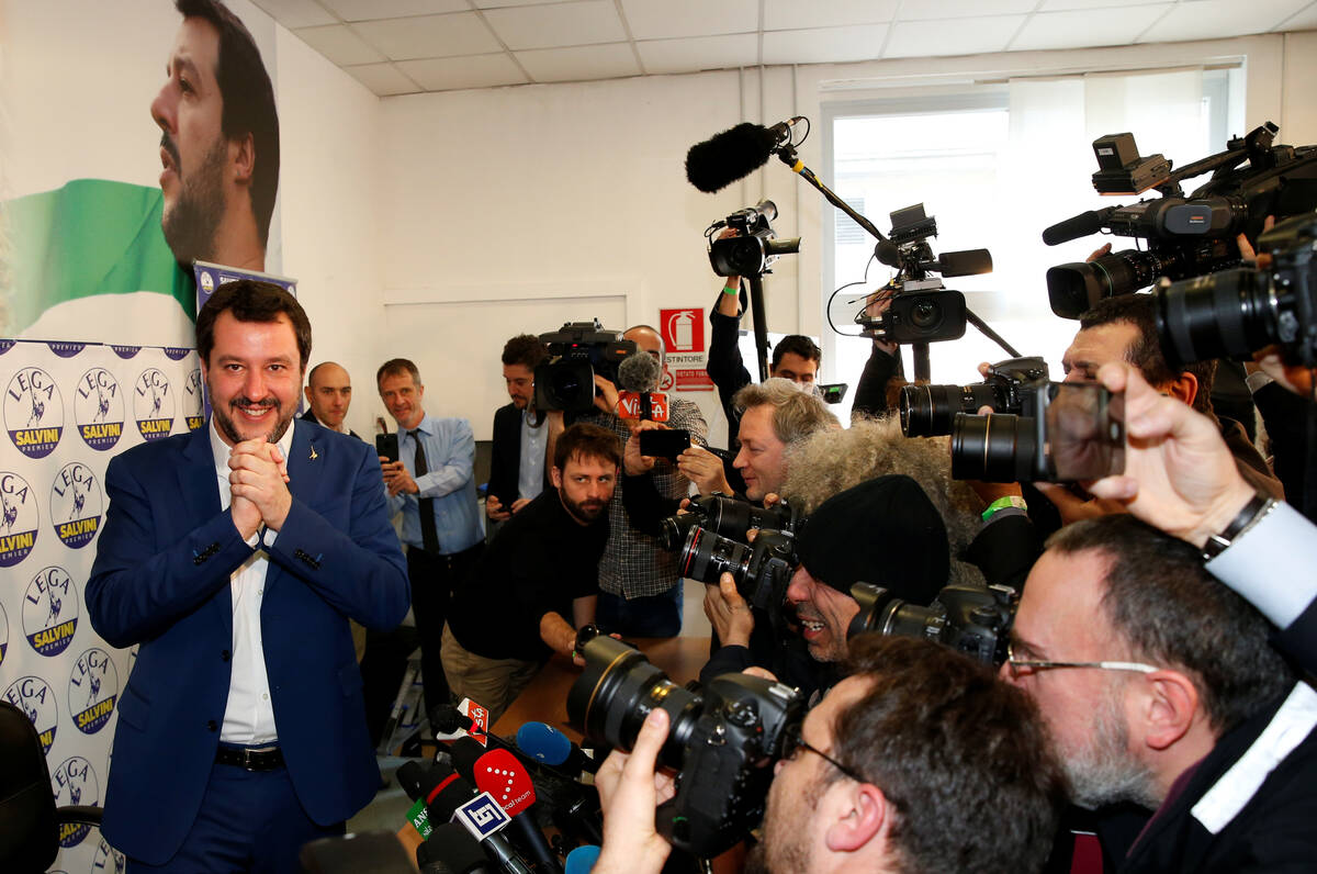 2018 03 05T110855Z 1131082038 RC149FEE2430 RTRMADP 3 ITALY ELECTION SALVINI