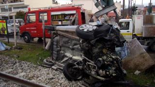 Σοκάρουν οι εικόνες σύγκρουσης ενός τρένου με αυτοκίνητο στη Φλώρινα