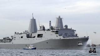 Στην κυπριακή ΑΟΖ το πολεμικό πλοίο που φτιάχτηκε από το ατσάλι των Δίδυμων Πύργων
