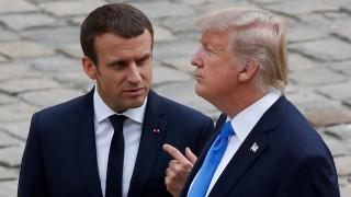Ο Μακρόν προειδοποιεί τον Τραμπ ενάντια στον κίνδυνο ενός «εμπορικού πολέμου»
