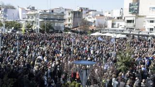 Πλήθος κόσμου στο συλλαλητήριο στην Ορεστιάδα για τους δυο στρατιωτικούς