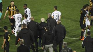 Η διακοπή στο ΠΑΟΚ - ΑΕΚ μετά το αμφισβητούμενο γκολ (pics)