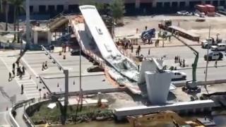 Κατέρρευσε πεζογέφυρα στο Μαϊάμι: Νεκροί και τραυματίες