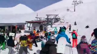 Γεωργία: Εικόνες πανικού σε χιονοδρομικό κέντρο - Τελεφερίκ εκσφενδονίζει ανθρώπους