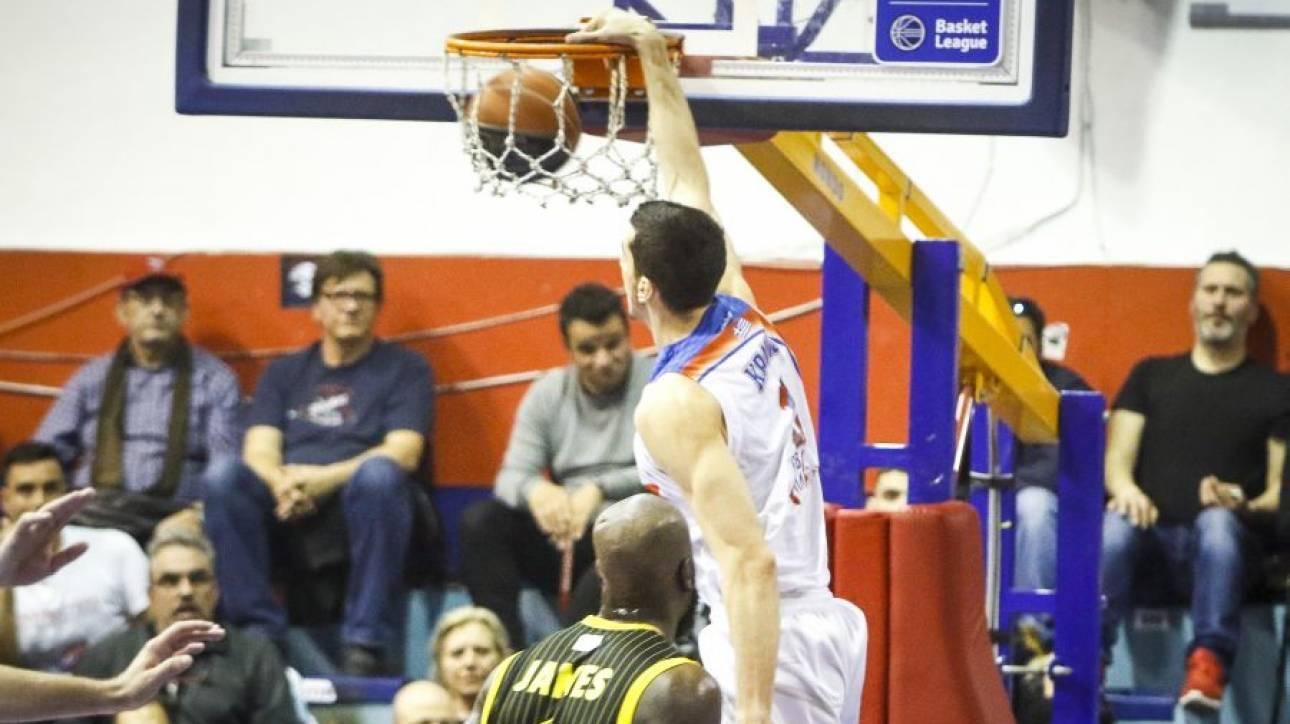 Basket League: «Ζωντανός» ο Πανιώνιος μετά τη νίκη επί της ΑΕΚ
