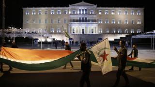 Πορεία αλληλεγγύης για την Αφρίν από επιτροπές Κούρδων και οργανώσεις της Αριστεράς