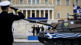 Η στρατιωτική παρέλαση στην Αθήνα για τον εορτασμό της 25ης Μαρτίου