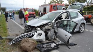 Τροχαίο με τρεις νεκρούς και τέσσερις τραυματίες στην Εθνική Οδό Θεσσαλονίκης-Ευζώνων