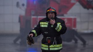 Μεγάλη φωτιά σε πολυκατοικία στην Τσετσενία