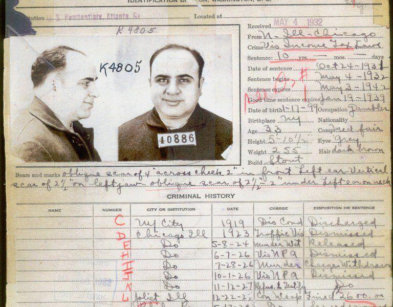 capones criminal record in 1932