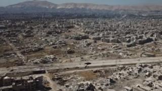 Drone καταγράφει την εικόνα καταστροφής στην Ανατολική Γκούτα
