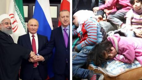 Ερντογάν, Πούτιν και Ροχανί μιλούν για τους Σύρους χωρίς τους Σύρους