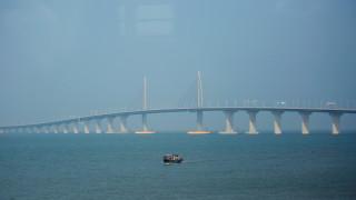 Έτοιμη η μεγαλύτερη γέφυρα στον κόσμο-Συνδέει την Κίνα με το Χονγκ Κονγκ (pics&vids)
