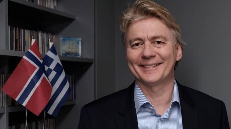 «Να γραφτεί το επόμενο κεφάλαιο στην ελληνική οικονομία», λέει ο Νορβηγός πρεσβευτής στην Αθήνα
