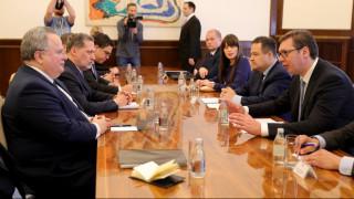«Το Βελιγράδι εκτιμά τη συνεχή στήριξη της Ελλάδας»: Συνάντηση Κοτζιά- Βούτσιτς