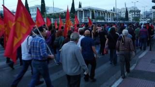 Συγκέντρωση διαμαρτυρίας στο κέντρο της Αθήνας για τους βομβαρδισμούς στη Συρία
