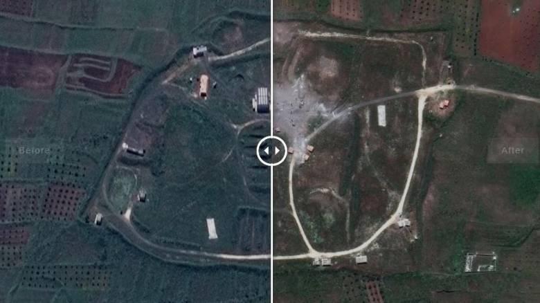 Συρία: Εικόνες από τους στόχους πριν και μετά