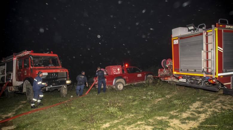 Συνεχίζεται η μάχη με τις φλόγες στην Ηλεία