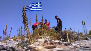 Ένταση με φόντο την ελληνική σημαία στη νησίδα Ανθρωποφάς