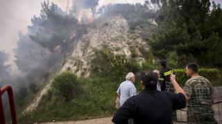 Ηλεία: Δεν υπάρχει ενεργό μέτωπο φωτιάς στην περιοχή της Φρίξας