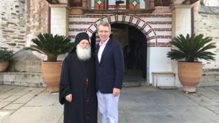 Επίσκεψη Τζέφρι Πάιατ στο Άγιον Όρος