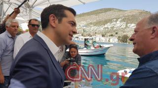 Εικόνες από την επίσκεψη του Αλέξη Τσίπρα στο Καστελόριζο