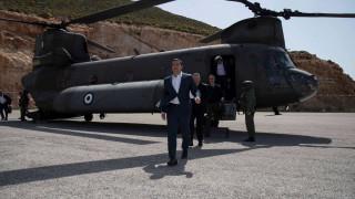 Τουρκικά μαχητικά παρενόχλησαν το ελικόπτερο που μετέφερε τον Τσίπρα