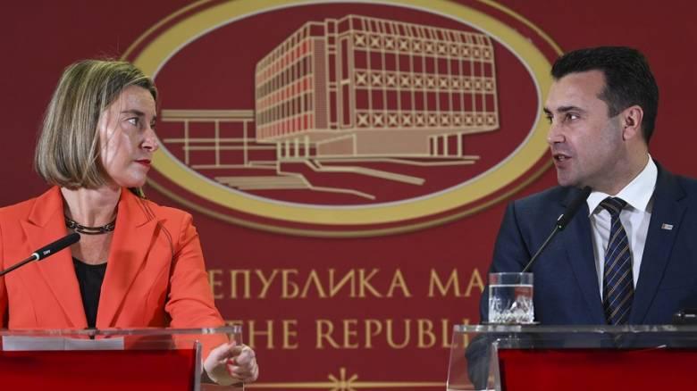 Μογκερίνι-Ζάεφ: Αισιοδοξία για την εξεύρεση λύσης στο θέμα του ονόματος