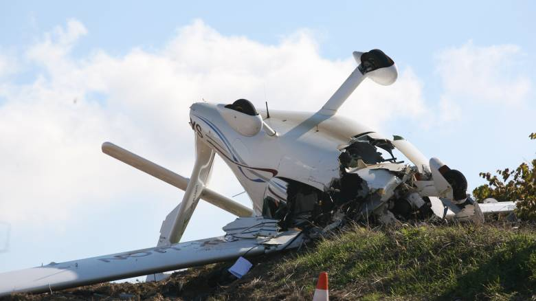 Πτώση μονοκινητήριου αεροπλάνου στη Φωκίδα