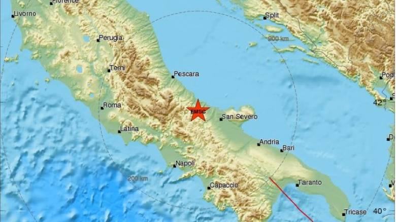 Σεισμός 4,2 Ρίχτερ στην Ιταλία