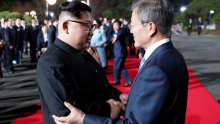 Ενθουσιασμός στη Βόρεια Κορέα για την ιστορική συνάντηση Κιμ - Μουν Τζε-ιν
