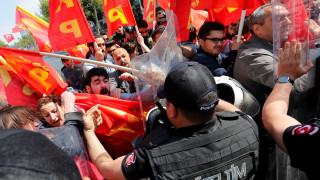 Πρωτομαγιά 2018: Επεισόδια στην πλατεία Ταξίμ στην Κωνσταντινούπολη