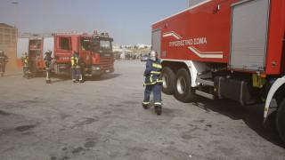 Ξάνθη: Μεγάλη φωτιά σε εργοστάσιο μπαταριών