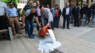 Διαμαρτυρία κτηνοτρόφων στη Λάρισα με αφορμή την παρουσία του Αποστόλου