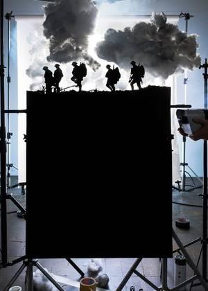 Πέντε φιγούρες στρατιωτών στη μάχη του Broodseinde
