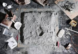 Το αποτύπωμα του ανθρώπου στη Σελήνη.